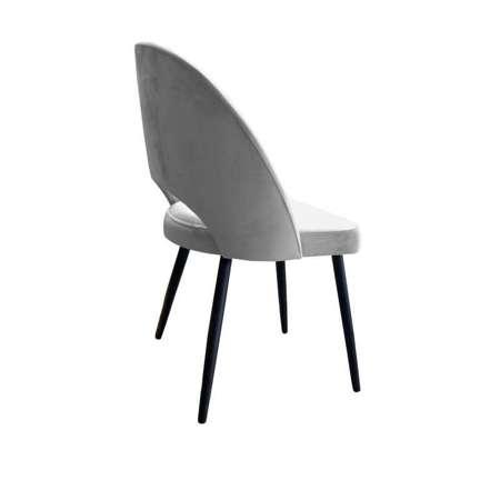 Szare tapicerowane krzesło LUNA materiał MG-17