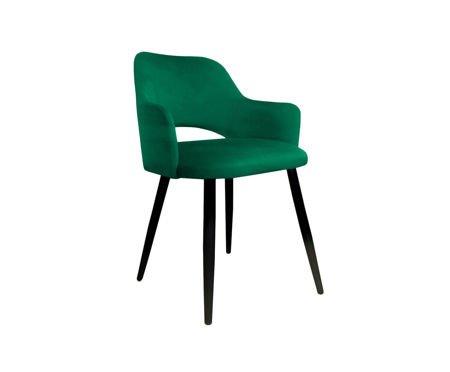 Zielone tapicerowane krzesło STAR materiał MG-25